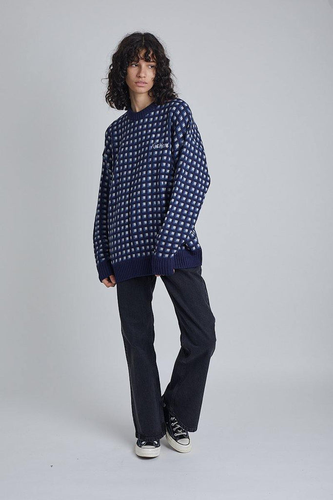 Kickers Mens Navy Patterned Knit