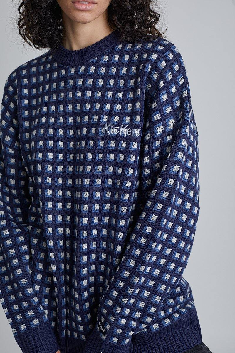 Kickers Mens Navy Patterned Knit - The Ragged Priest
