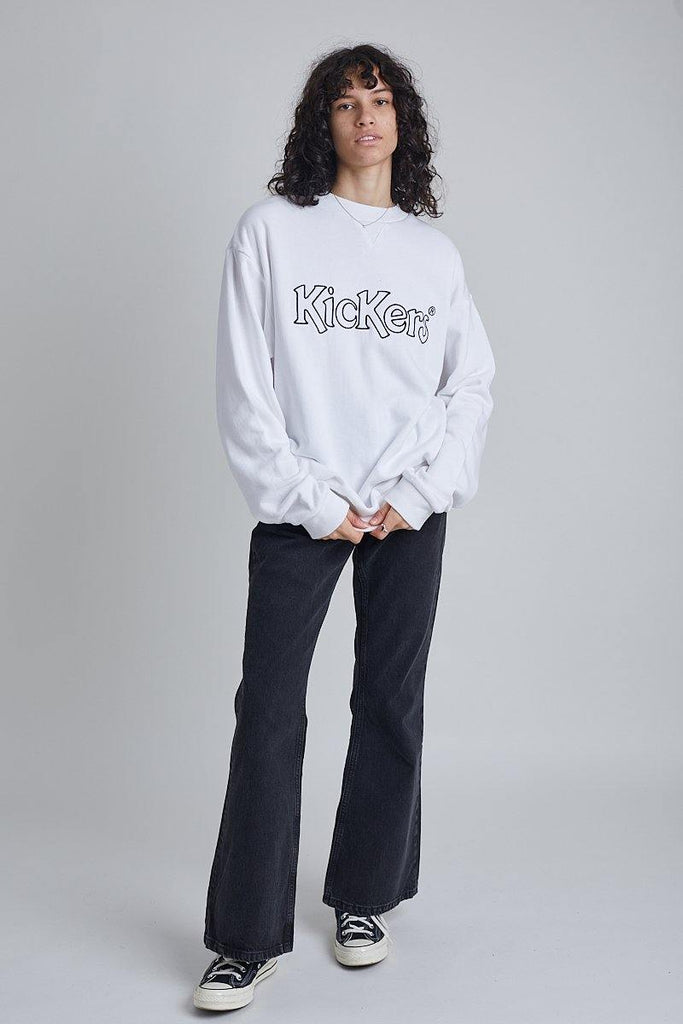 Kickers Mens White Sweatshirt With Logo