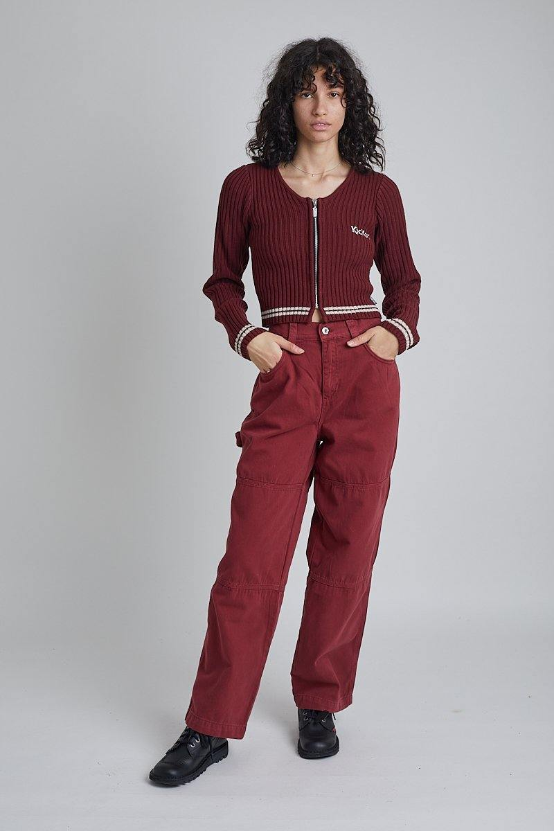 Kickers Burgundy Ribbed Knit - The Ragged Priest