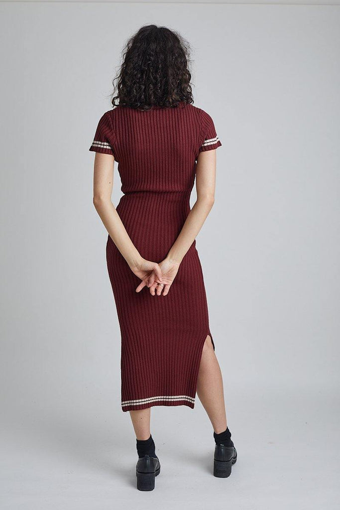 Kickers Burgundy Knit Dress