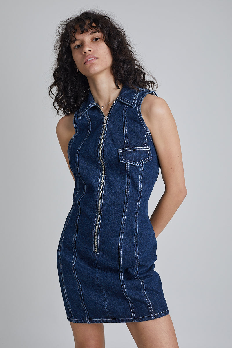 Milk It Flyer Recycled Denim Dress