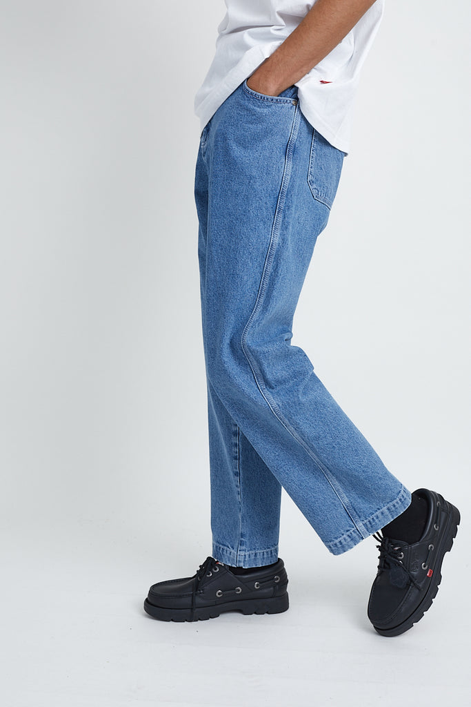 Kickers Mens Mid-Blue Jeans
