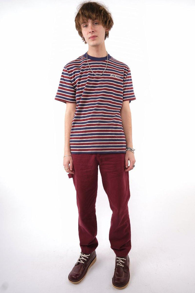 Kickers Mens Burgundy Pants