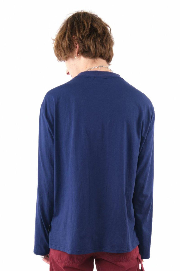 Kickers Mens Navy Long Sleeve Tee - The Ragged Priest