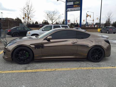 Genesis Coupe Vinyl Wrapped In Supercast Black Chrome Film