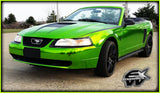 XPO SP Conform Chrome Green Vinyl Wrap mustang 3 | Vvivid Canada