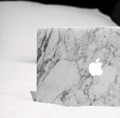 XPO White-Grey Veined Marble Vinyl Wrap laptop | Vvivid Canada