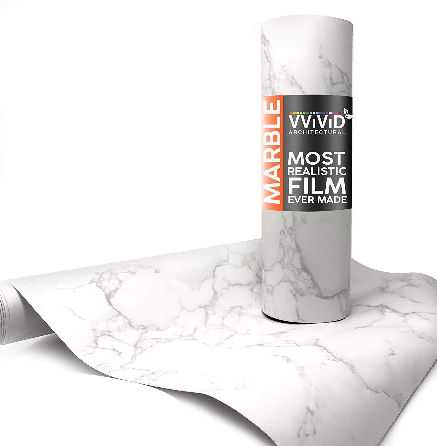 Vvivid Carrara White Marble Matte Architectural Film The Vvivid Shop