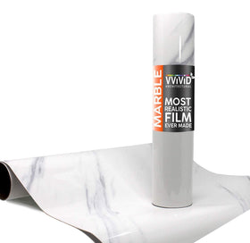 VViViD Slanted Carrara White Marble Gloss Architectural Film