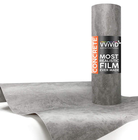 VViViD Grey Concrete Architectural Film