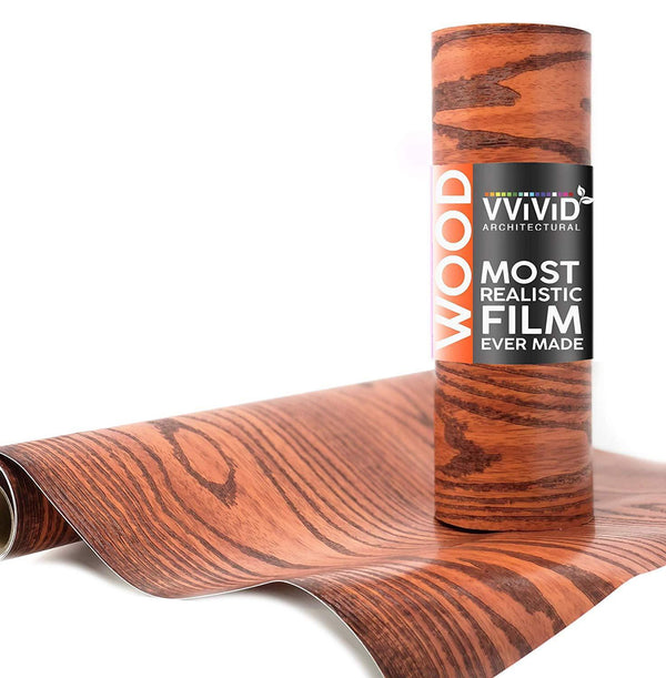 VViViD Red Ash Wood Architectural Film - The VViViD Vinyl Wrap Shop