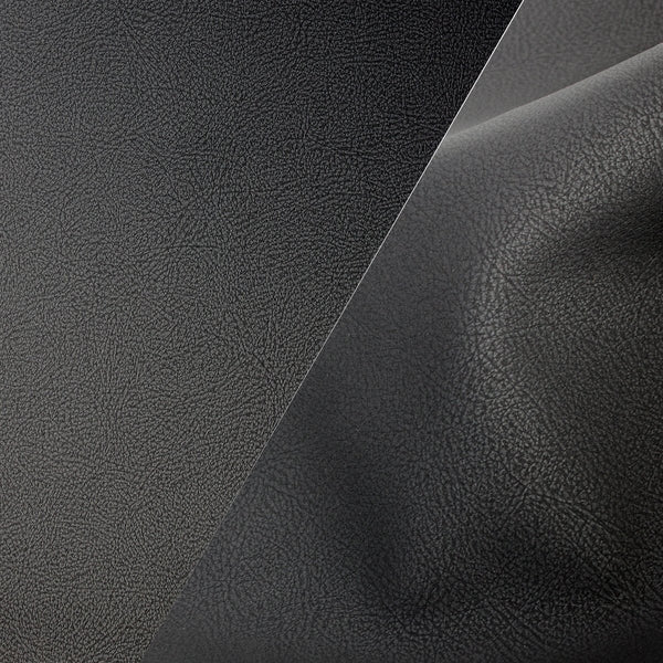 Bycast65 Black Matte Buffed Full-Grain Pattern Faux Leather Marine Vinyl Fabric - The VViViD Vinyl Wrap Shop