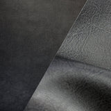 Bycast65 Black Matte Gloss Satin Top-Grain Pattern Faux Leather Marine Vinyl Fabric display