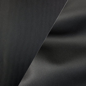 Bycast65 Black Mesh Pattern Faux Leather Marine Vinyl Fabric