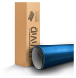 XPO Metallic Blue Brushed Steel Vinyl Wrap roll | Vvivid Canada