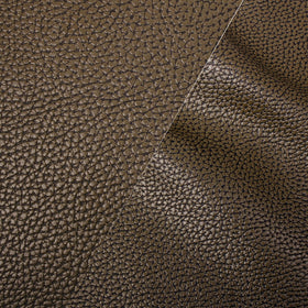Bycast65 Brown Correct-Grain Pattern Faux Leather Marine Vinyl Fabric