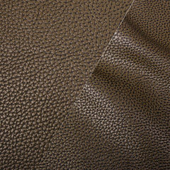Bycast65 Brown Matte Gloss Satin Correct-Grain Pattern Faux Leather Marine Vinyl Fabric display