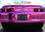 XPO SP Conform Chrome Pink Vinyl Wrap camaro rear | Vvivid Canada