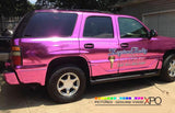 XPO SP Conform Chrome Pink Vinyl Wrap gmc side | Vvivid Canada