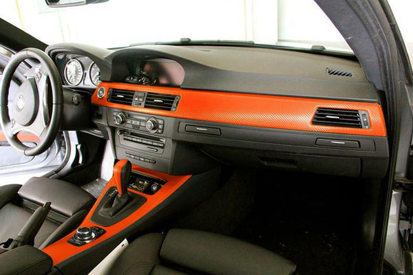 Orange Dry Carbon ( interior use only ) - The VViViD Vinyl Wrap Shop