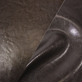 Bycast65 Brown Gloss Top-Grain Pattern Faux Leather Marine Vinyl Fabric