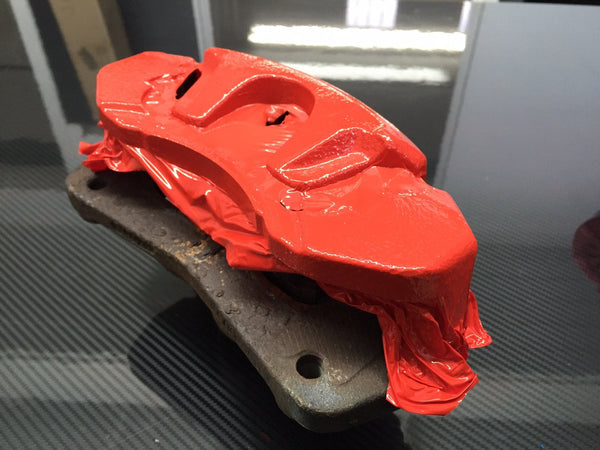 VViViD Red Enamel Caliper Wrap - The VViViD Vinyl Wrap Shop