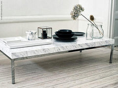 XPO White-Grey Veined Marble Vinyl Wrap desk | Vvivid Canada