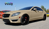 VViViD+ Matte Rally Beige mercedes cl63 amg 2017 side profile