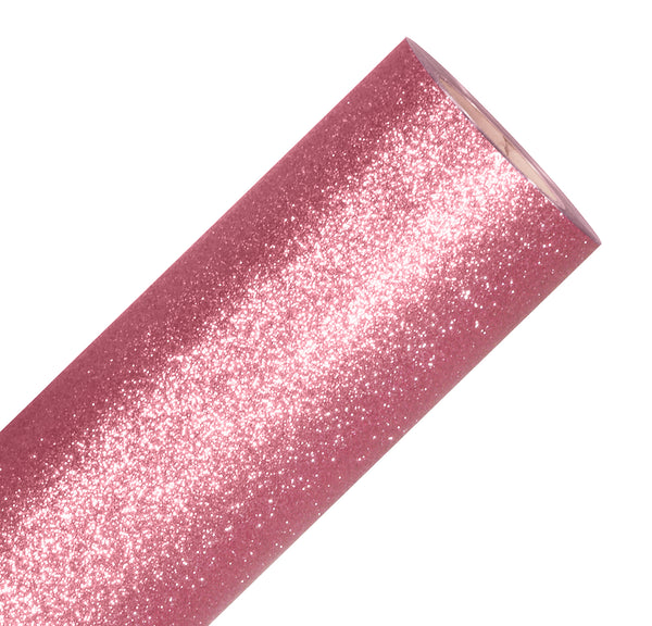 V2 Pro Rose Gold Glitter Heat Transfer Film HTV - The VViViD Vinyl Wrap Shop