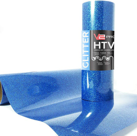 V2 Pro Hyper Blue Glitter Heat Transfer Film
