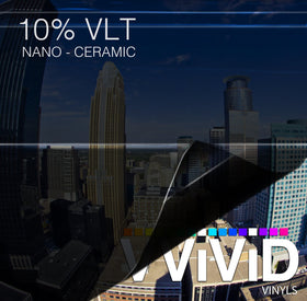 VViViD OPTIC Nano Ceramic Window Tint 10% VLT