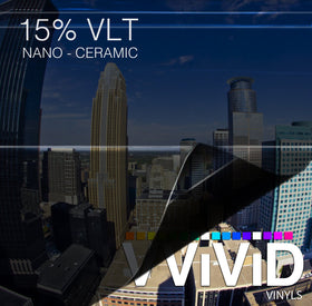 VViViD OPTIC Nano Ceramic Window Tint 15% VLT