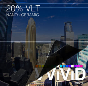 VViViD OPTIC Nano Ceramic Window Tint 20% VLT