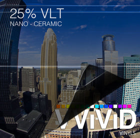 VViViD OPTIC Nano Ceramic Window Tint 25% VLT