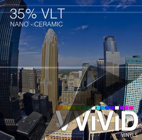 VViViD OPTIC Nano Ceramic Window Tint 35% VLT