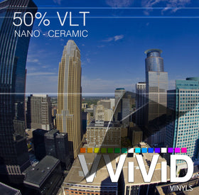 VViViD OPTIC Nano Ceramic Window Tint 50% VLT