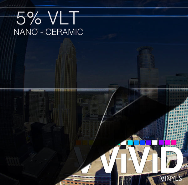 VViViD OPTIC Nano Ceramic Window Tint 5% VLT - The VViViD Vinyl Wrap Shop