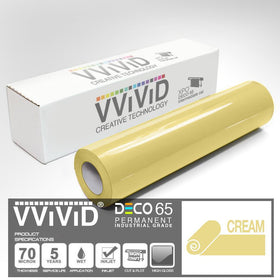 DECO65 Gloss Cream Permanent Craft Film