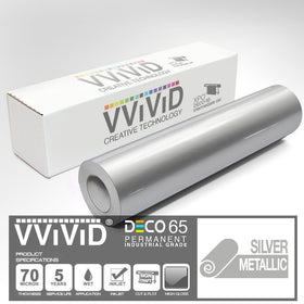 DECO65 Gloss Silver Metallic Permanent Craft Film