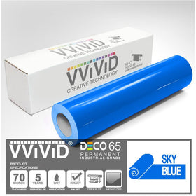 DECO65 Gloss Sky Blue Permanent Craft Film