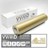 DECO65 Gloss Gold Metallic Permanent Craft Vinyl Film | Vvivid Canada