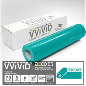 DECO65 Gloss Turquoise Permanent Craft Film