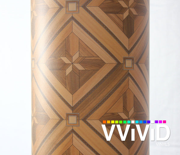 Parquette Mosaic Wood Grain - The VViViD Vinyl Wrap Shop