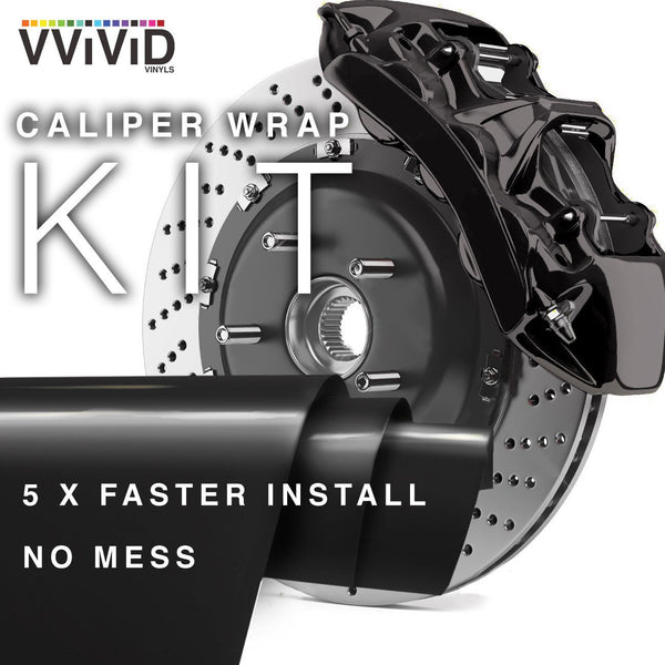 VViViD Black Enamel Caliper Wrap - The VViViD Vinyl Wrap Shop