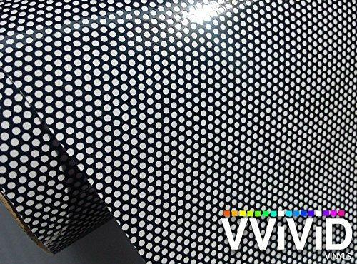 One-Way Perforated Black Vinyl Privacy Window Film - The VViViD Vinyl Wrap Shop