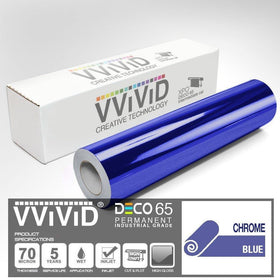 DECO65 Chrome Blue Permanent Craft Film