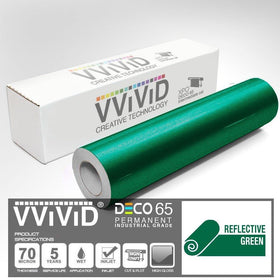 DECO65 Reflective Green Permanent Craft Film