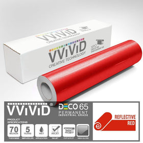 DECO65 Reflective Red Permanent Craft Film