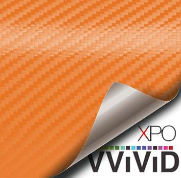 XPO Orange Dry Carbon Vinyl Wrap | Vvivid Canada